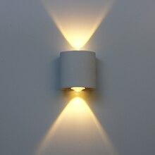 Светодиодный настенный светильник, алюминиевая уличная водонепроницаемая лампа для дома, лестницы, спальни, прикроватного столика, ванной,...