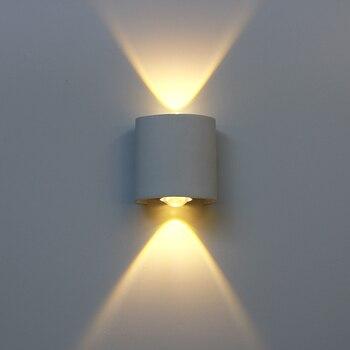 Led Wall Lamp Aluminum Outdoor IP65 Waterproof Up Down Light For Home Stair Bedroom Bedside Bathroom Corridor Lighting RF18 - discount item  68% OFF Indoor Lighting