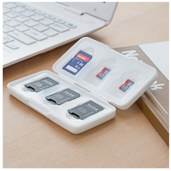 Transparent Memory Card Case Box Storage Holder 6 SD 6TF Micro SD 12Card Cards Hard Bag Waterproof plastic shaped 6TF+6SD