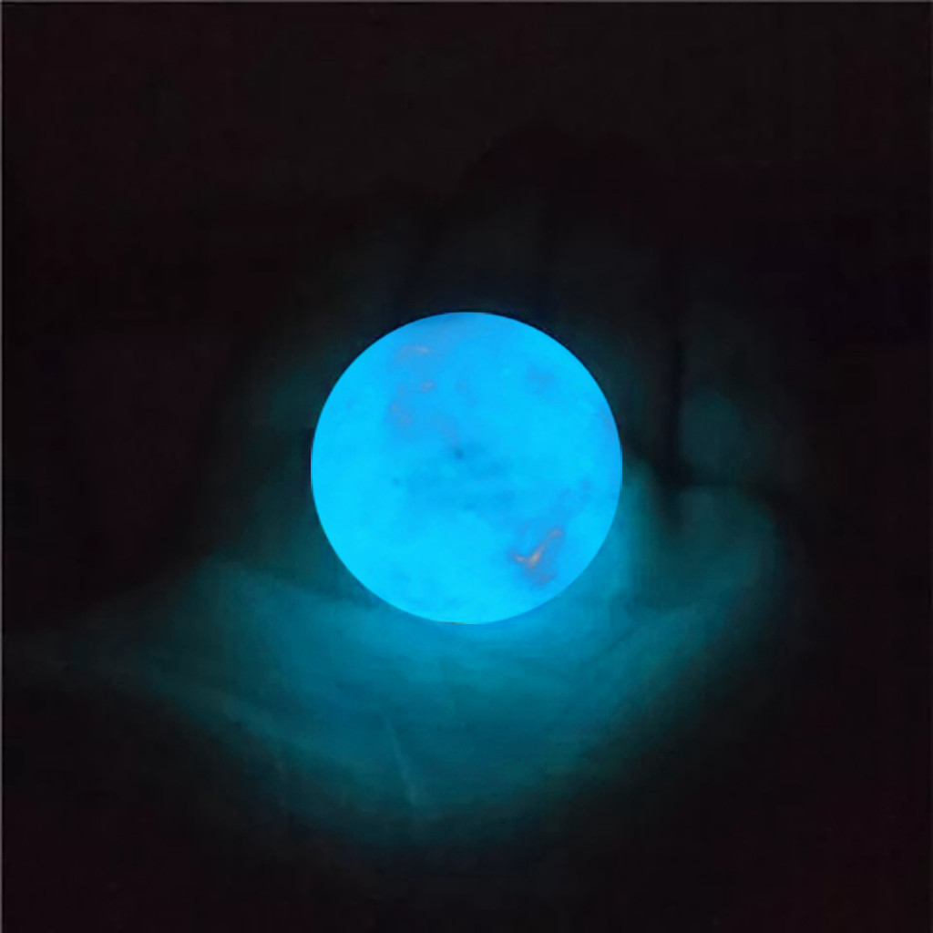 Amazing Fluorescent Ball  Blue Luminous Glowing Stone Quartz Crystal Sphere Bedroom Decoration Ball Glow Stone A Best Gift#25