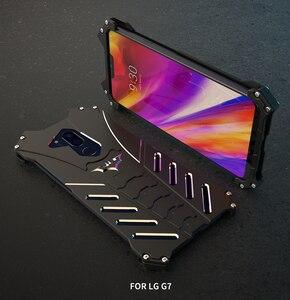 Image 5 - R JUST מקרה עבור LG V30 בתוספת G8 מקרה באטמן אבדון Heavy Duty שריון מתכת אלומיניום עמיד הלם טלפון מקרה עבור LG g7 G6 G8 מקרה כיסוי