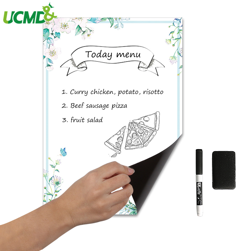 A3 Magnetic Whiteboard Marker Eraser Fridge Magnet Sticker Erasable Painting Writing Week Plan Reminder Board Notepad Sheet List