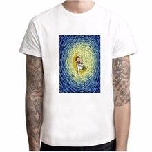 Футболка мужская с принтом картины Ван Гога модная тенниска
