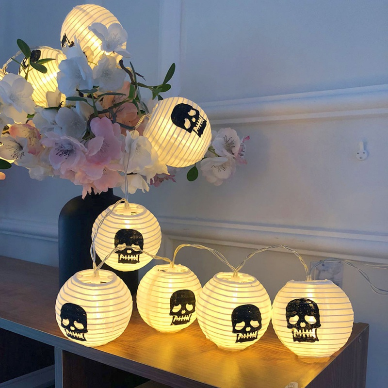 LED Halloween Decoration Skull Light String Party Lantern shaped Light String Festive Party Supplies Halloween Decoration in Party DIY Decorations from Home Garden