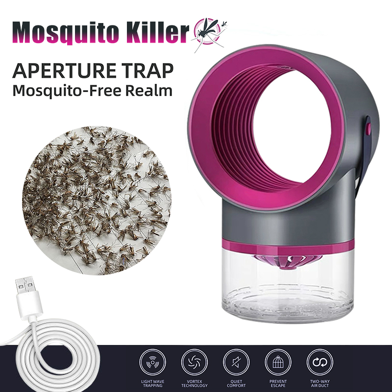 USB Lamp Fan Pest Insect Trap Light Repellent Electric Mosquito Killer Lamp Photocatalysis Mute Home LED Bug Zapper Insect Trap