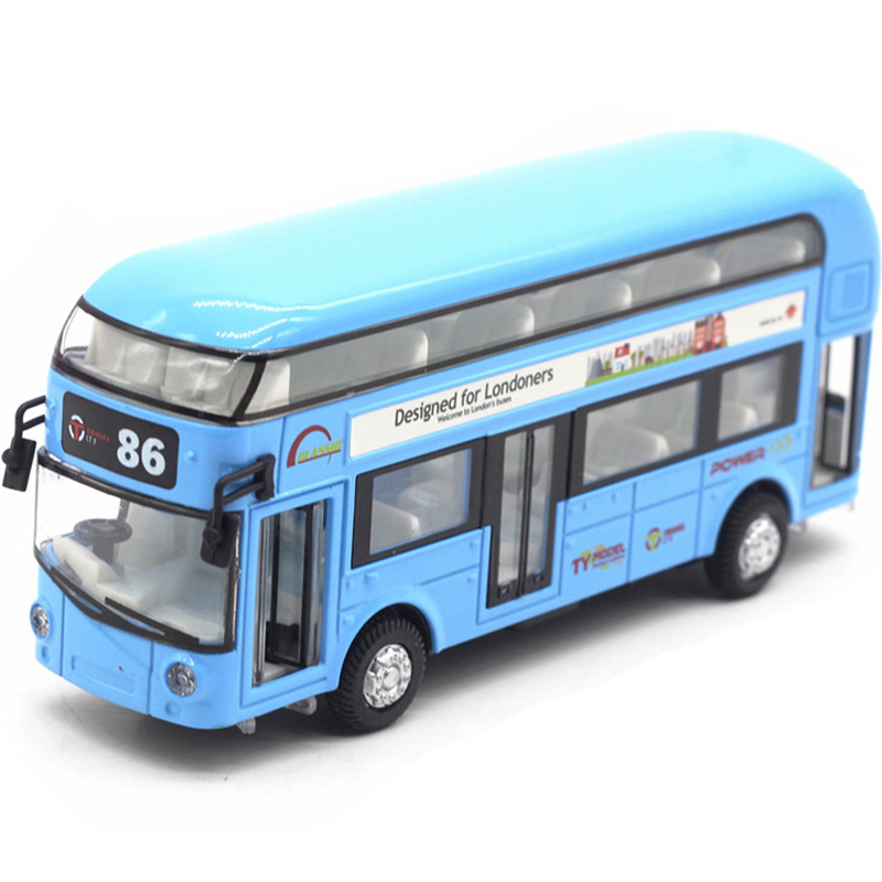 Diecast London Bus Double Decker Bus Light & Music Open Door Design Metal Alloy Bus Design For Londoners Toys For Children