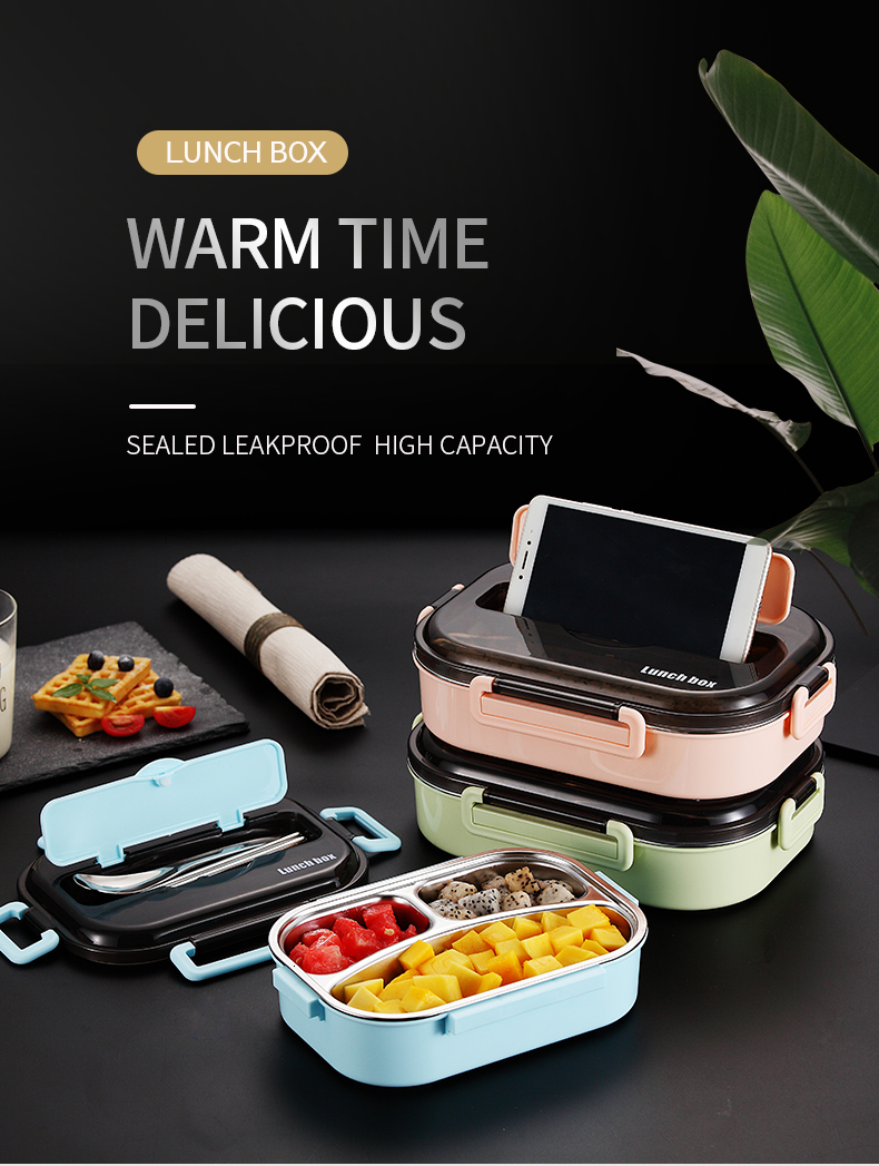 Hfc8d57429390411184bedb05bbe5b90aD - WORTHBUY Japanese Kids Lunch Box 304 stainless steel Bento Lunch Box With Compartment Tableware Microwave Food Container Box