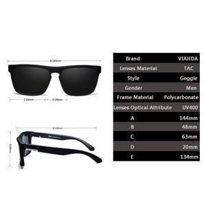 Image 5 - Viahda Polarisierte Sonnenbrille Männer Marke Design Fahren sonnenbrille Platz Gläser Für Männer Hohe Qualität UV400 Shades Brillen