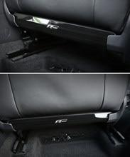Для Volkswagen VW Atlas Teramont Tiguan T-Cross T-ROC стальное автомобильное сиденье Anti Kick Board Pad Protector, аксессуары для интерьера