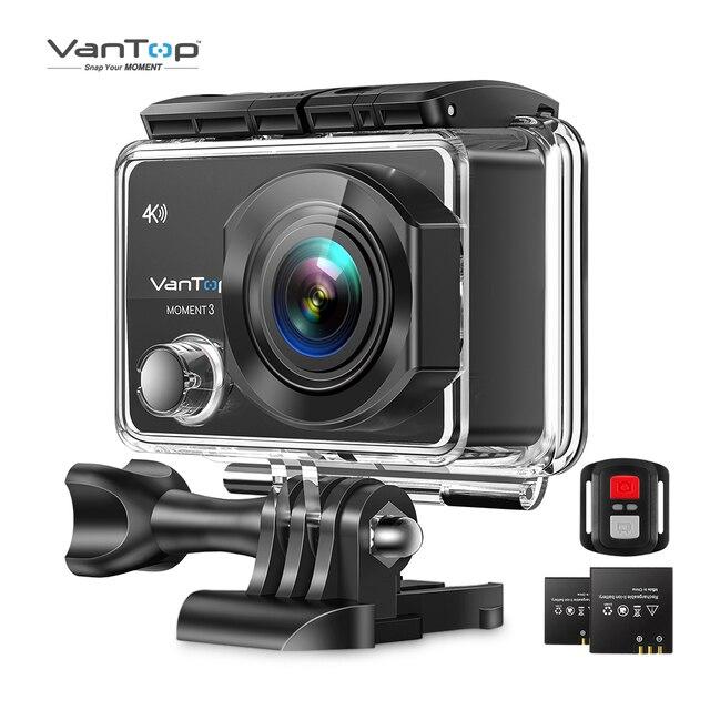 Câmera impermeável subaquática da câmera da ação do momento 3 4k de vantop com 170 ° grande angular ao ar livre mini esportes de vídeo de wifi mini câmera 1