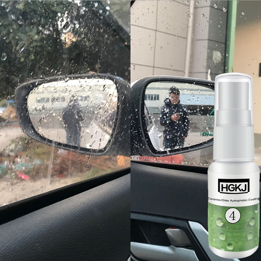 Car Glass Windshield Rearview Mirror Side Window Waterproof Rainproof Nano Hydrophobic Coating Auto Maintenance For Safe Driving