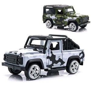 Детская игрушка, 1:32, металлический сплав, модель автомобиля SUV, моделирование, оттягивание, литье под давлением, камуфляж, внедорожные транс...
