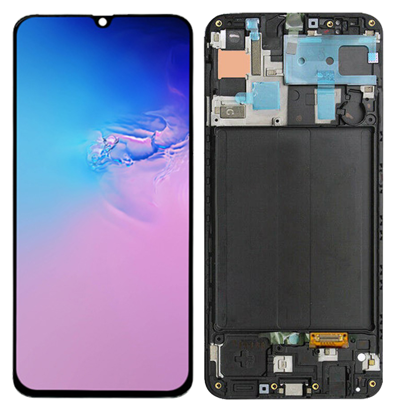 Original AMOLED A50 LCD For Samsung Galaxy A50 A505 LCD Display With Frame 6.4 Screen For Samsung A50 2019 A505F A505F/DS LCD image