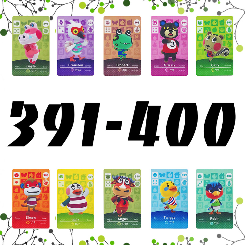 Animal Crossing <font><b>Card</b></font> <font><b>Amiibo</b></font> <font><b>Card</b></font> NFC welcome <font><b>cards</b></font> series 1 2 3 4 For nintendo switch NS Games Series (391 to 400) image