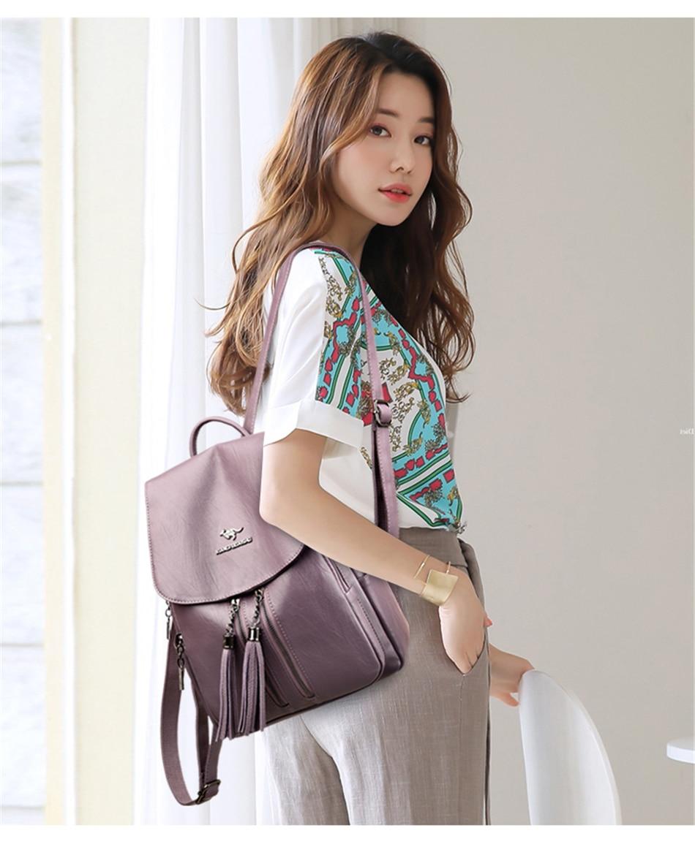 feminina mochilas de couro sacos de escola