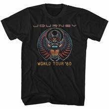 Camiseta para adultos clássicos americanos da excursão do mundo 80 da viagem