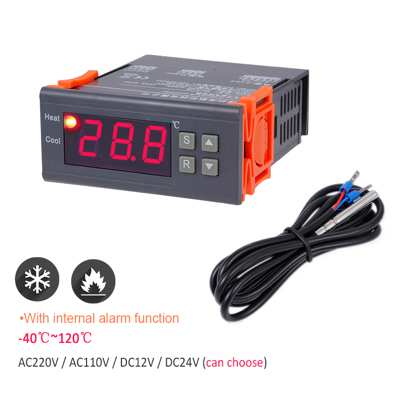 Digital Heat Cool Temp Thermostat Temperature Control Switch 1PC DC12V 50-110 ° C