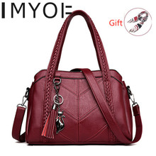 2020 Classic Womens Shoulder Bag Luxury Soft Leather Ladies Handbags Casual Tote Bags for Women Crossbody Light Purses Hot Sale