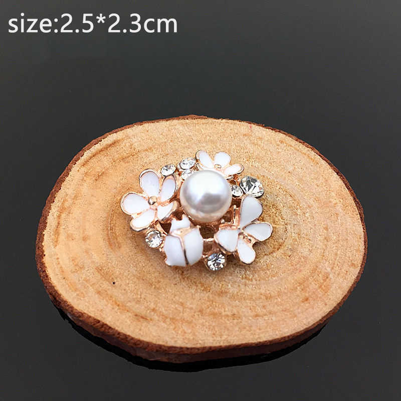 Bloem Strass Knoppen Parel Knoppen Lichtmetalen Crystal Bow Bruiloft Decoratie Haar Versieringen Naaien Decor Accessoires