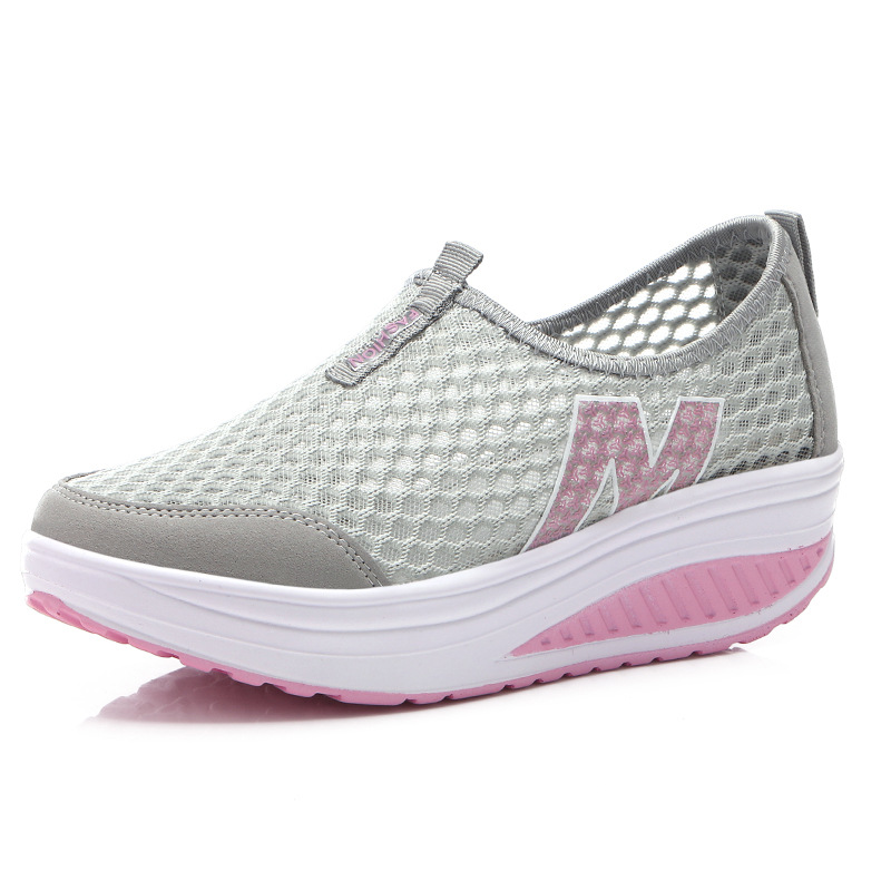 Women Sports Shoes Flat Platform Comfortable Net Breathable Sneakers Shoes For Women Walking Merchandiser Po Travel Shoes