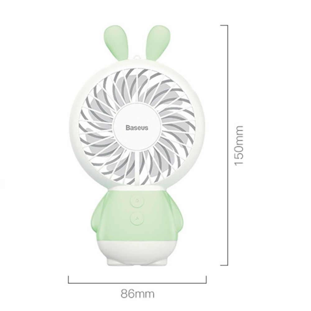 Домашний мини-вентилятор с usb зарядкой офисный ручной забавный кролик с настольная база перезаряжаемый кондиционер для студенческой ручки