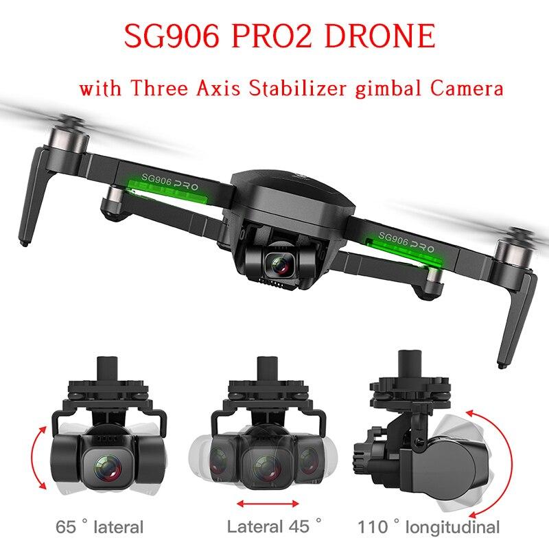 SG906 GPS Дрон с разрешением 4K 5G WI-FI cam SG906 Pro Pro2 двойной Камера Дрон profissional 2 3-осевой стабилизатор Камера Квадрокоптер Дрон