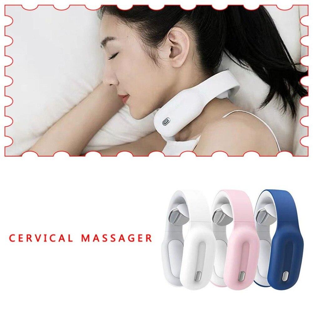 1 pçs cervical massageador pescoço fisioterapia massageador