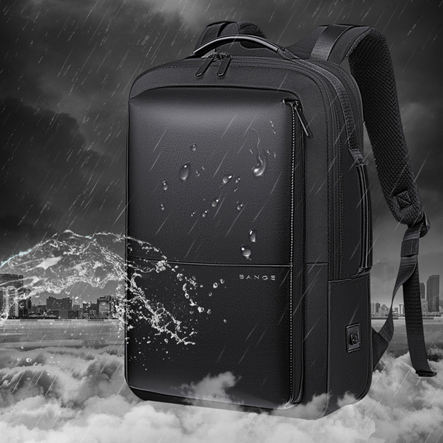 BANGE Professional Men Business Backpack Waterproof Travel Backpack 15.6'Laptop Backpack School Bag Office Men Backpack 3