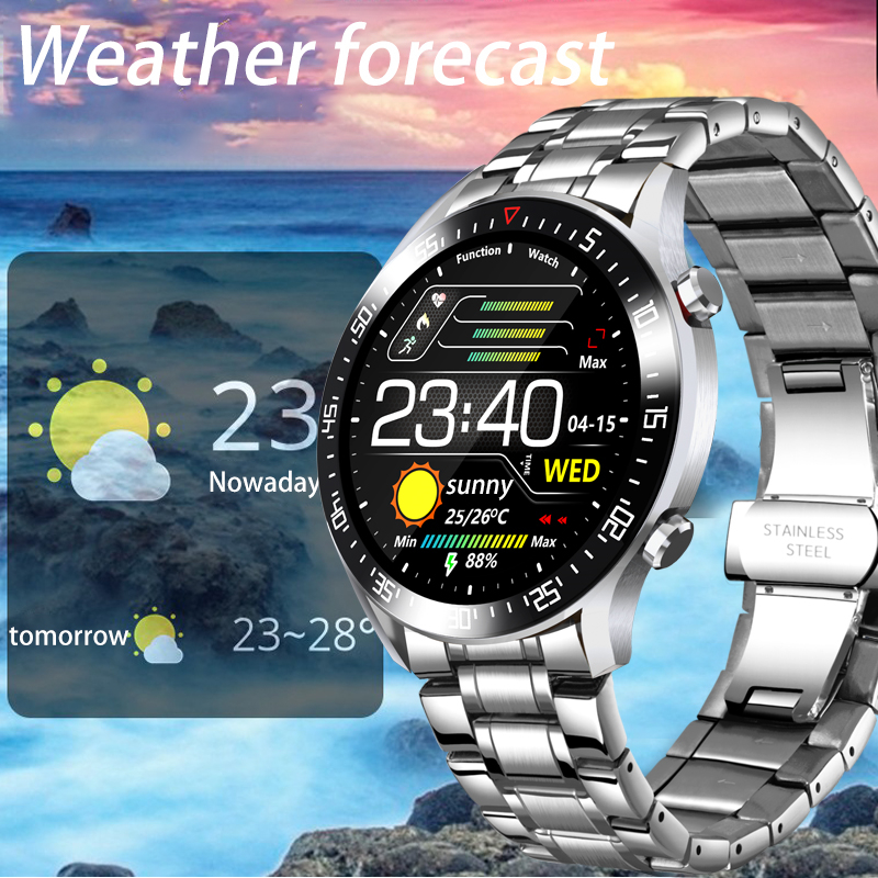 LIGE Smart Watch Men smartwatch LED Full Touch Screen For Android iOS Heart Rate Blood Pressure LIGE Smart Watch Men smartwatch LED Full Touch Screen For Android iOS Heart Rate Blood Pressure Monitor Waterproof Fitness Watch