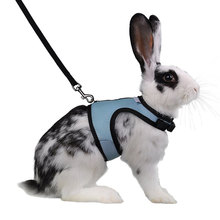 Cute Hamster Rabbit Pet Harness with Lead Set Ferret Guinea Pig Small Animal Walk Leash Bunny Little Pets XS-L 4 Colors