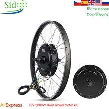 Mxus ebike motor da roda traseira 48/60/72v/90v 3000w kit de conversão bicicleta elétrica alta velocidade motor sem escova xf40 26 Polegada