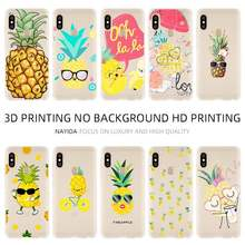 Fashion Soft TPU Case Cover For Coque Xiaomi Redmi 4X 4A 6A 7a Y3 K20 5 Plus Note 8 7 6 5 Pro Lovely pineapple(China)