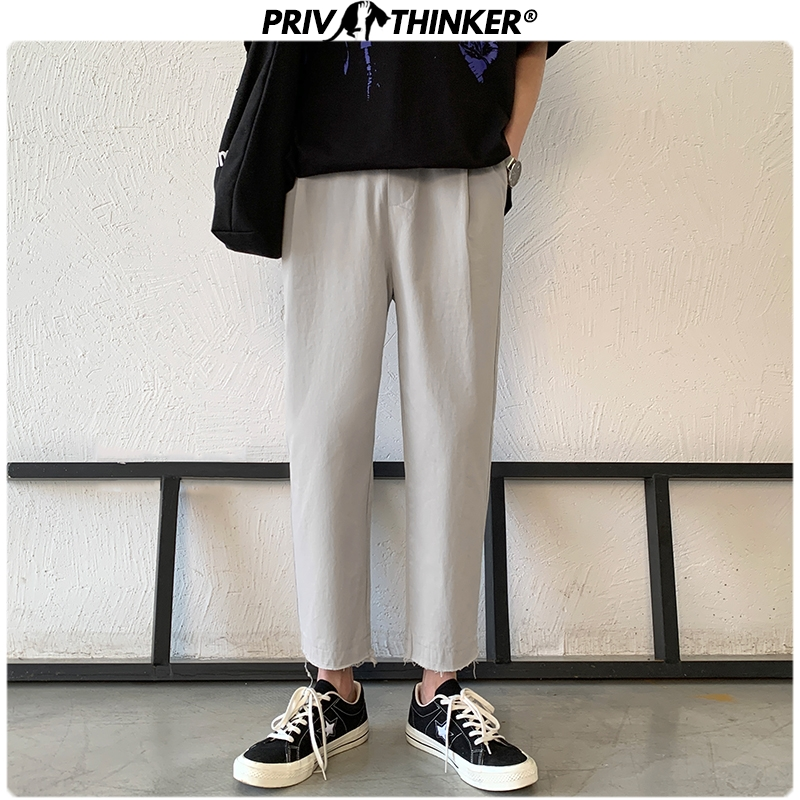 Privathinker Men Spring Summer Solid 2020 Harem Pants Mens Harajuku Casual Joggers Bottoms Male Korean Fashion Fitness Toursers