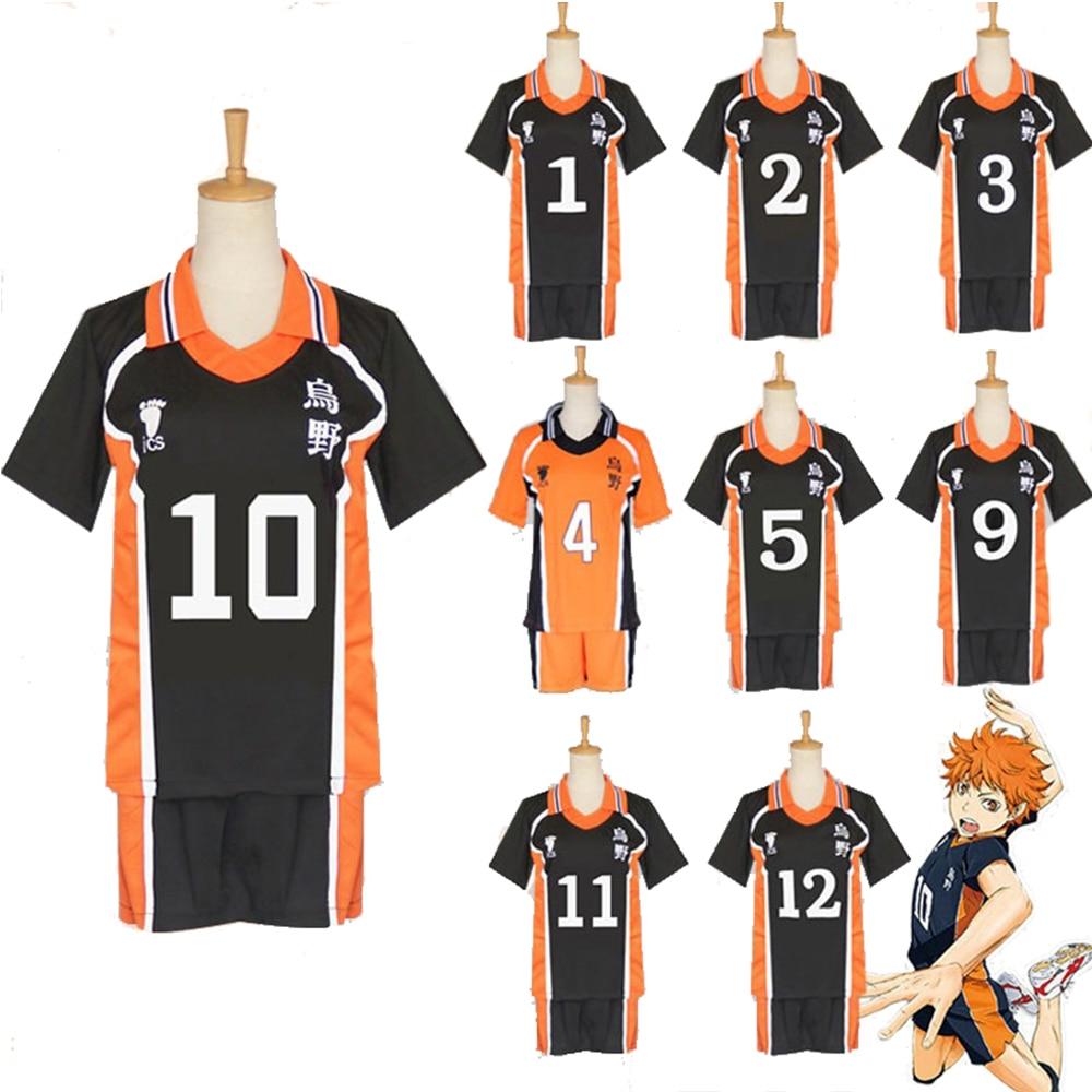 9 Styles Haikyuu Cosplay Costume Anime Karasuno High School Volleyball Club Hinata Shyouyou Kageyama Sportswear Jerseys Uniform