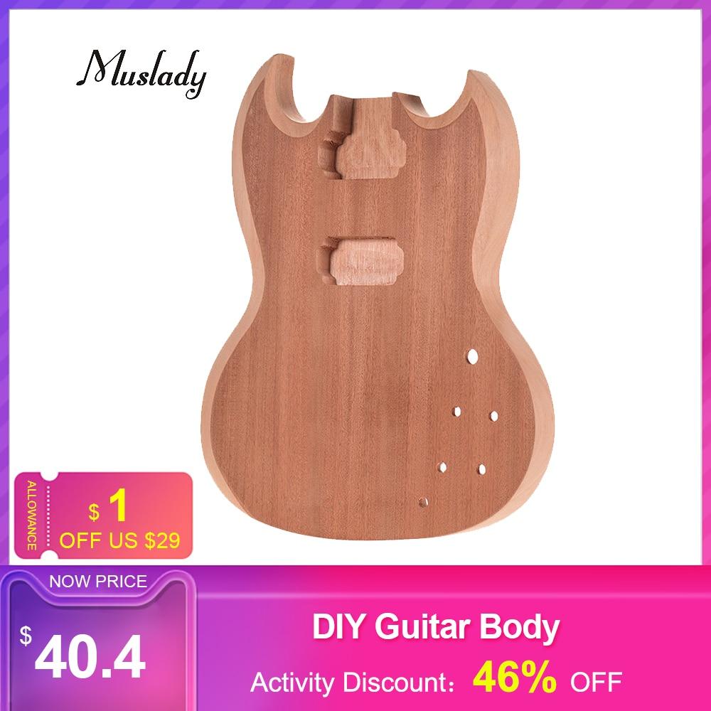 Muslady SG-T1 non fini guitare corps acajou bois blanc guitare baril pour SG Style guitares électriques bricolage pièces