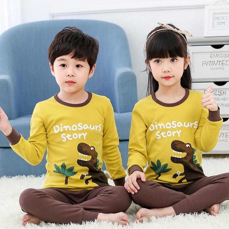 Childrenswear Men And Women Children Thermal Underwear Cotton And Wool Base Shirt Children Baby Underwear Suit Pajamas