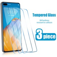 Protector de pantalla de cristal templado para móvil, vidrio templado para Huawei P10 P9 P8 lite 2017, P40 P20 Lite E Pro 2019 P smart Z 2020 P30, 3 unidades