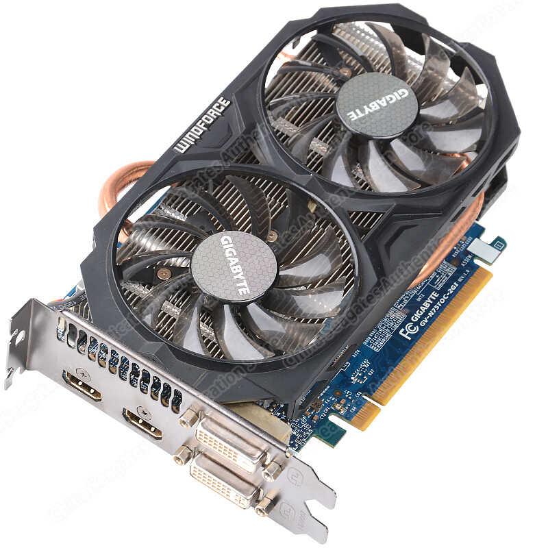 Gigabyte Card Đồ Họa GTX 750 Ti Có Video Thẻ WINDFORCE 2X NVIDIA GeForce GTX 750 Ti GPU 2GB GDDR5 128 Bit Cho Máy Tính Sử Dụng Thẻ