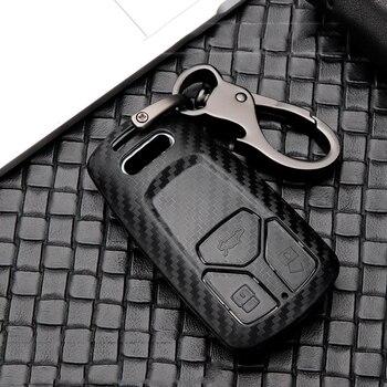 Fashion Scrub ABS full cover Car Key Case For Audi A1 A3 A4 A5 A6 A7 A8 B9 Quattro Q3 Q5 Q7 TT TTS 8S 2009-2017 Car accessories 2019 zinc alloy classic car key case cover for audi a1 a3 a4 a5 a6 a7 a8 quattro q3 q5 q7 2009 2015 auto key shell keychain