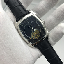 2019 new arrival mens KA watch black dial and strap 34mm size pa best quality 316L stainless steel leather skeleton