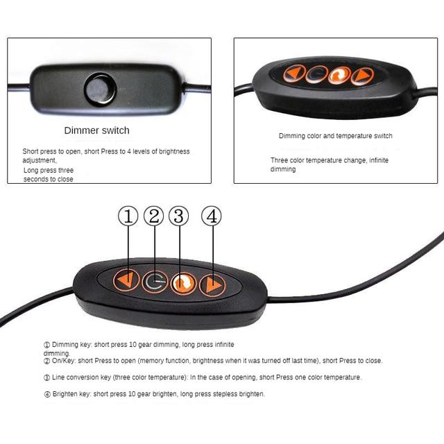 Top Grade USB Universal Hose Clip Lamp Adjustable Light Color Temperature Reading Eye-protection Lamp Munsu Beauty Hot Lamp 1