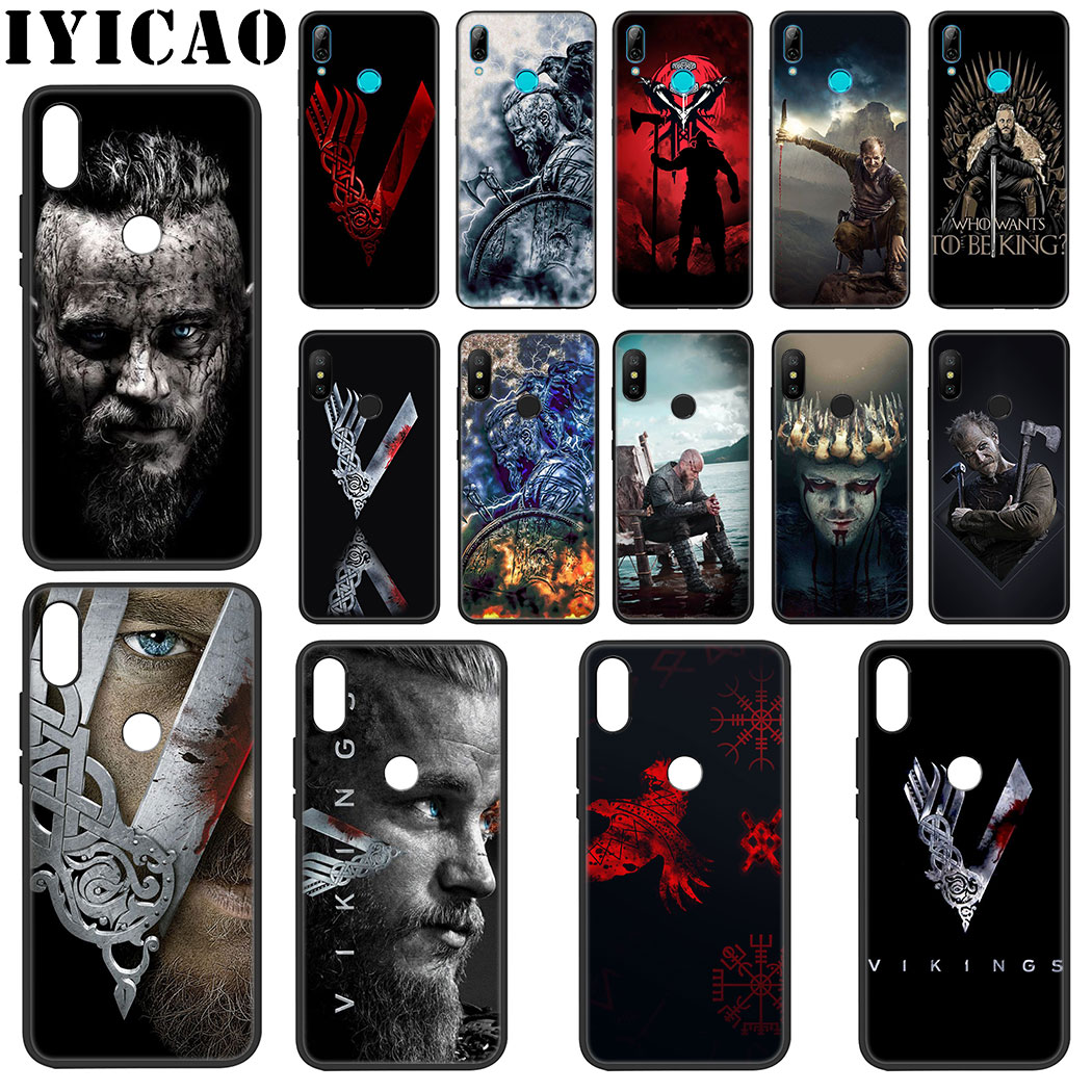 IYICAO Vikings Series Soft Silicone Case for Xiaomi Redmi Note 4X 5 6 7 8 Pro