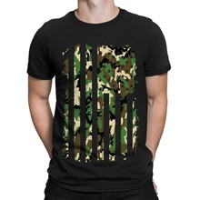 Camo USA United Flag Patriotism 4th Of July Camoflauged Adult Men T-Shirt(China)