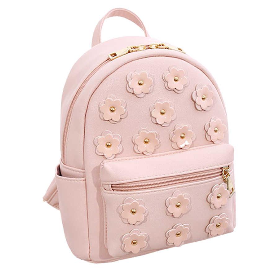 Женские рюкзаки из искусственной кожи с цветочным рисунком, школьная сумка для девочек, Женский походный рюкзак, Mochila Feminina, высококачественные сумки для книг