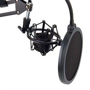 Image 4 - NB 35 microfone scissor braço suporte e mesa de montagem braçadeira & nw filtro windscreen shield & metal kit montagem