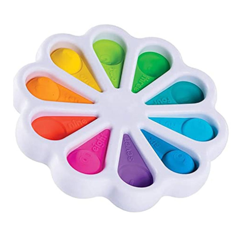 Toy Brain-Toy Hand-Fidget Simple Dimple Children Relief Anti-Stress Fat for 15x15cm-Petal img1