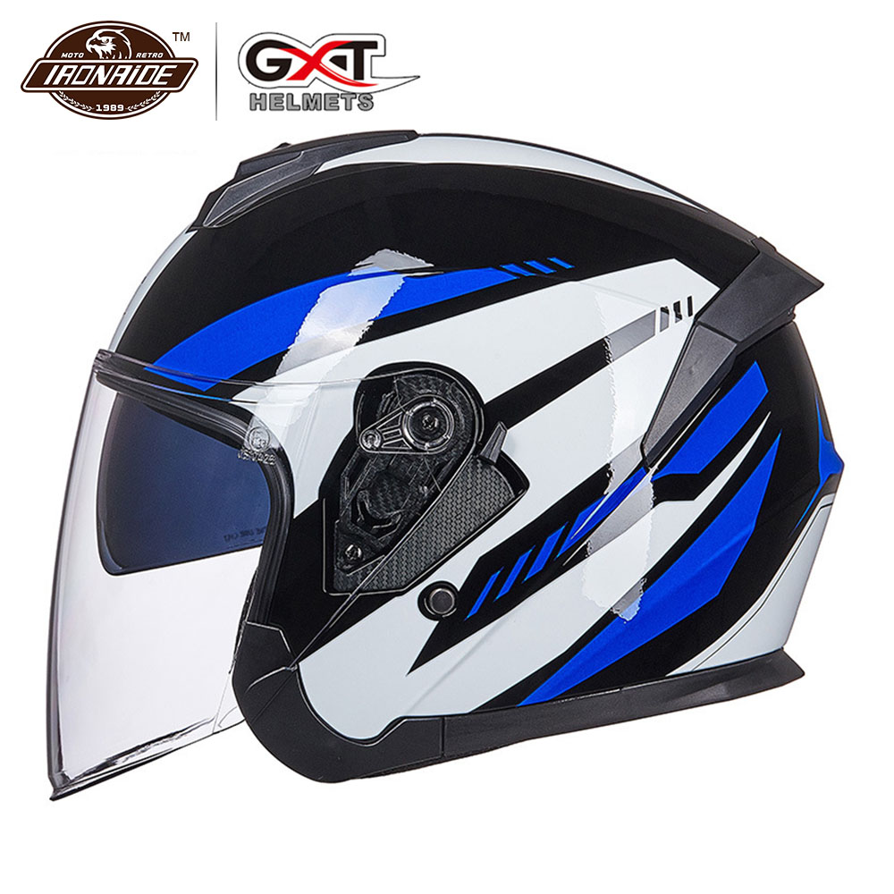 GXT New Motorcycle Helmet Moto Helmet Breath Scooter Half Face Biker Motorbik Helmet with Removeable Linner for Men Women Helmets     - title=