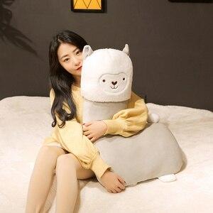 Image 4 - 45 80cm Lovely Alpaca Plush Toy Vicugna Pacos Japanese Soft Stuffed Cute Alpacasso Sheep Llama Animal Dolls for Kids Girls Gifts