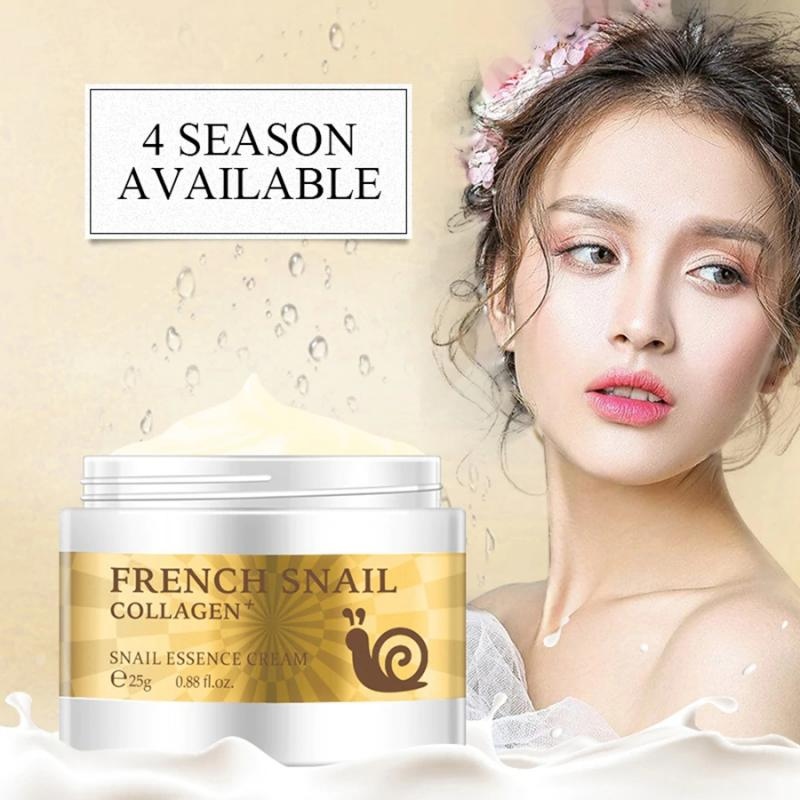 25g Snail Collagen Face Cream Whitening Moisturizing Cream Anti-aging Dilute Finelines Essence Cream Skin Care Cream TSLM1