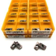 APMT1135 PDER M2/H2 VP15TF outil de tournage, insertion de carbure, APMT 1135, fraiseuse faciale, tour, outils de fraisage